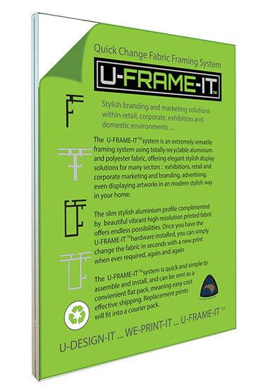U-FRAME-IT Quick Change Fabric Framing System