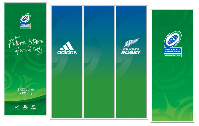 Junior Rugby World Cup Hanging Banners